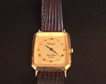 Vintage Dufonte by Lucien Piccard Quartz Watch / W Germany ; Piccard Watch