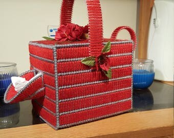 plastic canvas tissue cover box