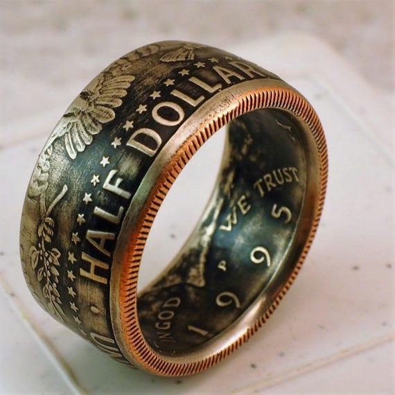 1995 American Half Dollar coin ring ( clad coin )