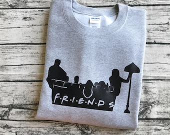 Friends TV Show Title Sweatshirt | Famous Couch Pose | Friends Characters