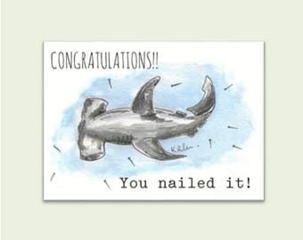 Congratulations Card - hammerhead