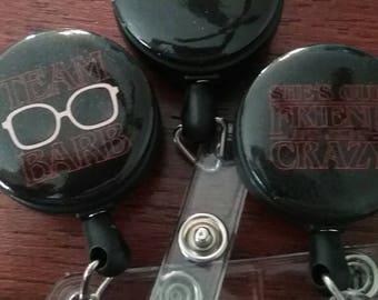 Stranger Things ID badge reel holders