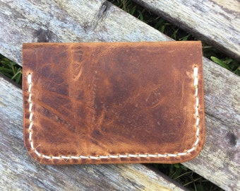Wallet - Folding Minimalist Style in English Tan Horween Leather
