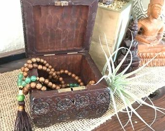 Beautiful carved wood jewelry box