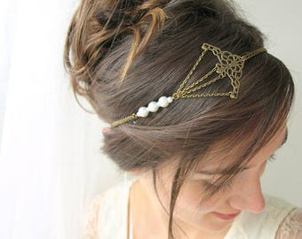 headband mariage vintage et romantique bijou de t te mari e. Black Bedroom Furniture Sets. Home Design Ideas
