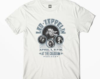 Led Zeppelin White Vintage Look T-Shirt - S M L XL