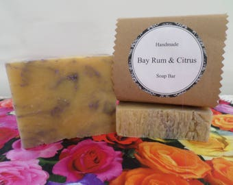 Bay Rum & Citrus Soap, Bay Rum Citrus Soap, Bay Rum Soap, Bay Rum Soap Bar, Bay Rum Bath Soap, Handmade Soap, Natural Soap, Vegan Soap