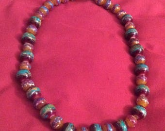 Painted Choker Pearl Necklace