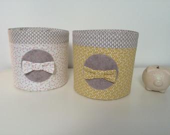 2 coordinated bathroom theme Claudette baskets