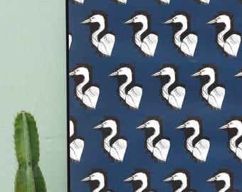 Heron Pattern Illustration