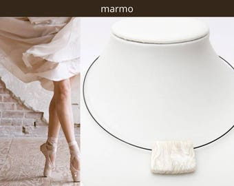 Necklace MARMO. Minimal everyday necklace. Elegant fashion accessory. Necklace for her. Gift.