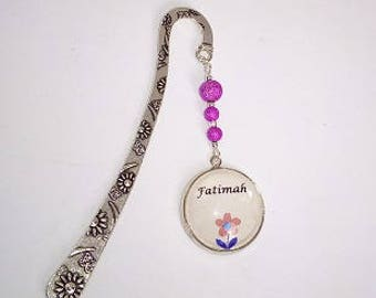 Personalised Bookmark. Pendant bookmark, name bookmark, with choice of beads