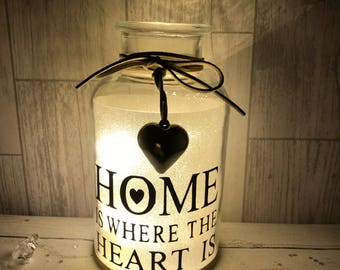 Home is where the heart is.. led light jar