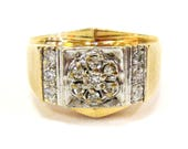 14K Diamond Vintage Men&#...