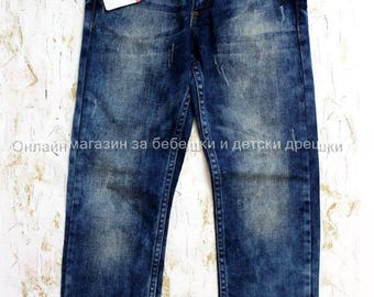 VINTAGE,blue long jeans Armani for 8 years old boy