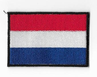 """Netherlands Dutch Holland Country National Flag Sew on Patch Embroidered Applique Patches Emblem Souvenir 3"""" x 2"""" FREE SHIPPING"""