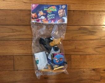 Vintage 90's Space Jam Michael Jordan Looney Tunes Daffy Duck toy