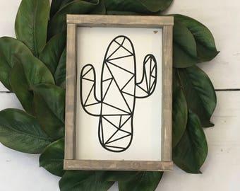 Cactus, Geometric, Farmhouse sign, Indie
