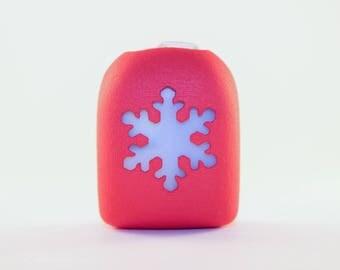 Clip-On Omnipod Pod Cover - Snowflake