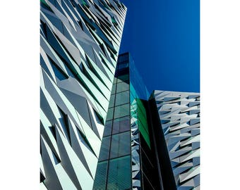 Titanic Belfast 1 - giclée print, wall art, fine art, artwork, photographic, picture, architecture, museum, blue, green, home decor