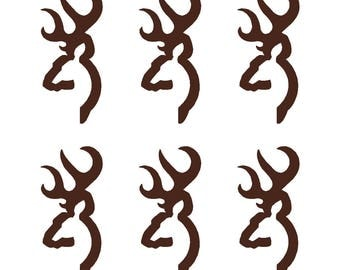"Browning Buck Logo Vinyl Decals 6 Small 2"" Stickers"