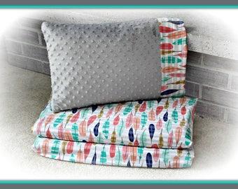 Kindermat Nap Mat Cover & Minky Travel Sized Pillowcase -Kindermat Cover - Preschool- Daycare - Kindergarten
