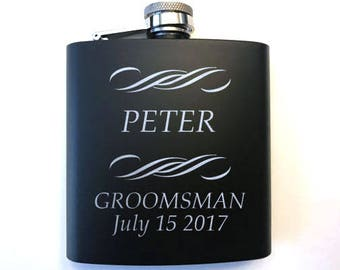 Groomsman Gift - Groomsmen Flasks - Personalized Flask - Groomsman Flask -Bridal Party Gifts - Gifts for Wedding Party - Groomsmen Gifts
