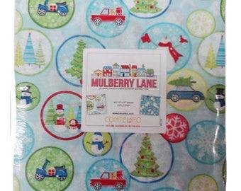 "Benartex Mulberry Lane 10"" X 10"" Pack/Layer Cake by Cherry Guidry for Contempo Studio - 42, 10"" x 10"" Precut Fabric Squares"
