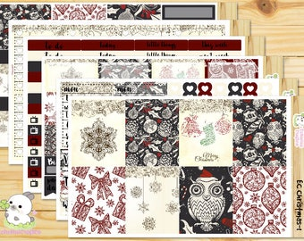 Christmas / Merry Christmas / Winter  Weekly Full Kit/ Planner stickers for Use with Erin Condren Vertical Life Planner/Happy Planner
