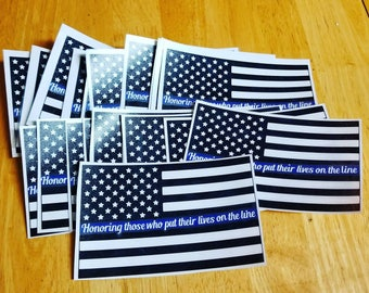 Thin blue line decal