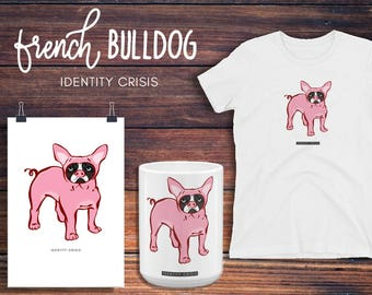 Bulldog Women's T-shirt, French Bulldog Shirt, French Bulldog TShirt, Funny T Shirt, French Bulldog Clothing, French Bulldog Art, bulldog