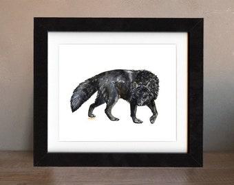 art, wolf, original, paintings, original art, gift, wolf painting, wall art, decor, spirit, totem, animal, wild, saltwatercolors