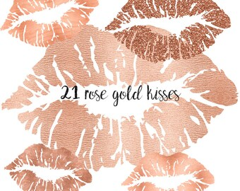 3 FOR 8 Rose Gold lips clipart, Rose Gold clipart lips,Rose Gold Glitter lips clipart, Rose Gold glitter clipart