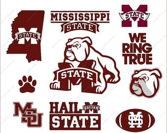 Mississippi State Bulldogs SVG bundle party SVG Dxf Eps Png Ai for Cricut & Silhouette Digital File design Print Mug Shirt Decal
