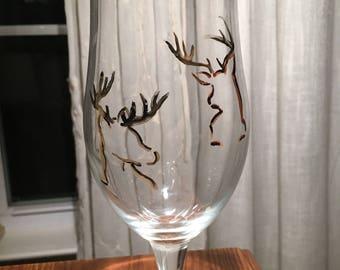 Deer Antlers Beer Glass