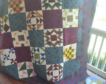 "Handmade Queen Size Quilt ""Stonehedge"""