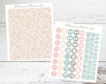 Glitter Headers // Icons // For Use With ECLP or MAMBI Happy Planner