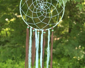 Big turquoise dreamcatcher - turquoise of Brown dream catcher