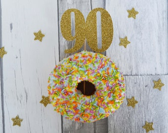 90th Birthday Cupcake Topper, 90th Birthday Party, Number Cake Topper, Party Decorations, Cake Topper, Glitter Cake Topper, Party Supplies