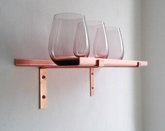 kupfer regal etsy. Black Bedroom Furniture Sets. Home Design Ideas