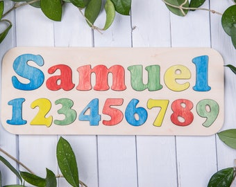 Custom name puzzle personalized baby gifts wooden puzzle wooden puzzle wooden toy wooden name puzzle personalized puzzle educational puzzle negle Choice Image
