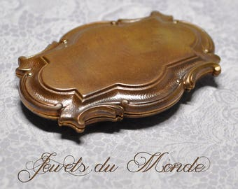 Vintage French Locket or Keepsake Box Finding Ornate Louis XII Neoclassical Marie Antoinette Style Raw Brass Die Casting 2 Pieces 475J