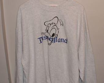 Vintage VTG Off White Speckled Disneyland Sweater