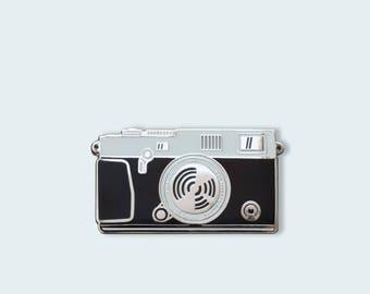 Camera Enamel Pin - THE RANGEFINDER - Silver
