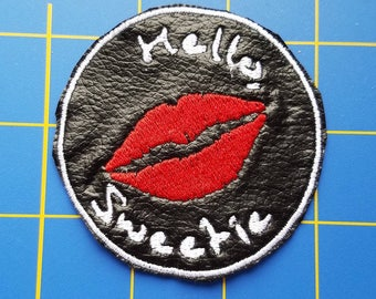 Hello Sweetie Doctor Who patch or keychain River Song tardis BBC