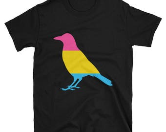 Pansexual Pride Crow Unisex T-Shirt lgbtq lgbt lgbtqipa queer gay transgender mogai