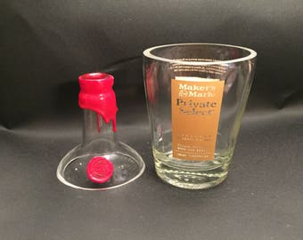 Makers Mark Candle 46 Private Select Bourbon Whiskey Soy Candle With/Without Base. Made To Order !!!!!!!