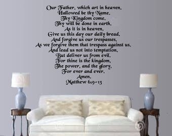 Lord's Prayer Wall Decal