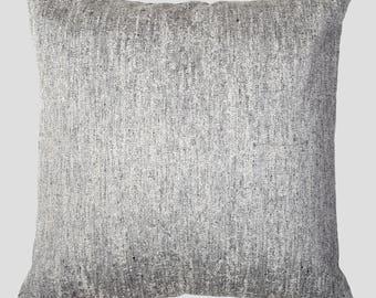 Grey Flecked Luxury Textured Cushion
