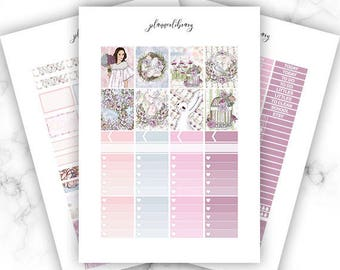 SPRING FLING Weekly Kit // Printable Planner Stickers / Erin Condren Kikki K Plum Paper Happy Planner Fashion Designer Blogger Easter April